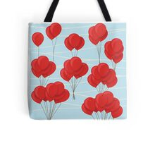 Red balloon flight Tote Bag