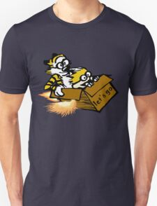 Let's Go Calvin And Hobbes Unisex T-Shirt