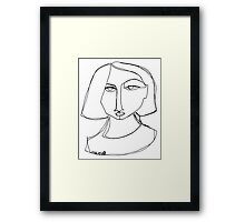 Une figure humaine Framed Print