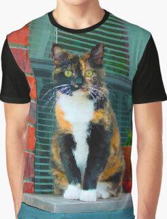 Calico Cat Graphic T-Shirt