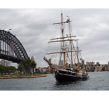 The Tall Ship & Sydney Harbour Bridge Photographic Print