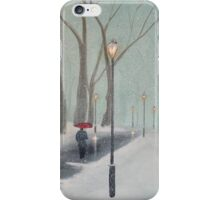 Snowfall In The Park iPhone Case/Skin