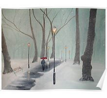 Snowfall In The Park Poster