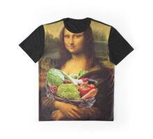 Mona Lisa Loves Vegetables Graphic T-Shirt