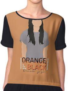 Brook Soso - Orange Is The New Black Chiffon Top