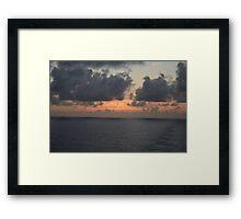 Sun Setting over the Atlantic Framed Print