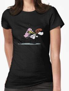 Snoopy And Courage Is Faster In The World Womens Fitted T-Shirt