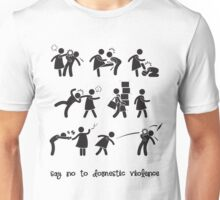 Say No to Domestic Violence Unisex T-Shirt