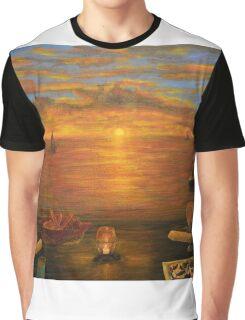 Florida Key's Sunset Dinner Graphic T-Shirt