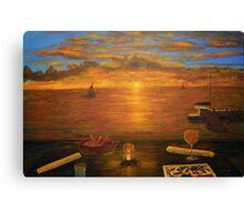 Florida Key's Sunset Dinner Canvas Print