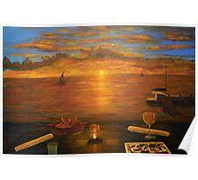 Florida Key's Sunset Dinner Poster