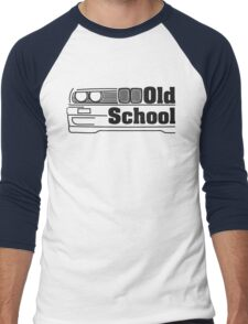 E30 Old School - Black Men's Baseball ¾ T-Shirt