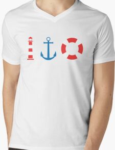 Summer Marina Mens V-Neck T-Shirt