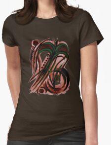 Green flower Womens Fitted T-Shirt