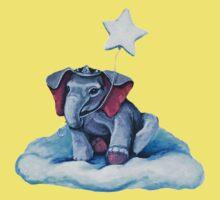 Royal Blue Elephant Baby Tee