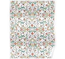 Ornamental lace tracery Poster