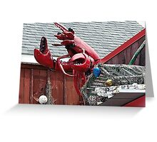 Lobster Topper Greeting Card
