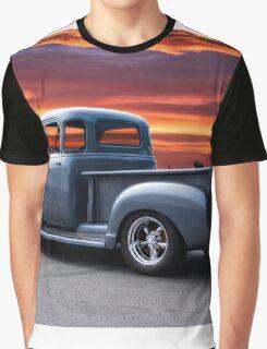 1953 Chevrolet 3100 Custom Pickup 3Q Rear Graphic T-Shirt