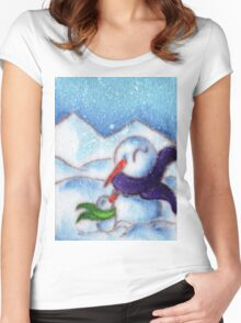 SnowCuddle Women's Fitted Scoop T-Shirt