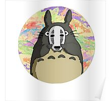 Totoro Open The Mask Poster