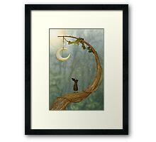 Raven Loves The Moon Framed Print