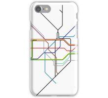 Minimal Tube Map iPhone Case/Skin