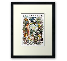 """The Illustrated Alphabet Capital  C  """"Getting personal"""" Framed Print"""