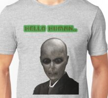 Elegant Alien,UFO in Suit,Vintage Illustration,Dictionary Art Unisex T-Shirt