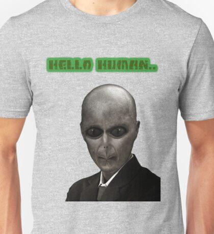 Elegant Alien,UFO in Suit,Vintage Illustration,Dictionary Art Unisex T-Shirt