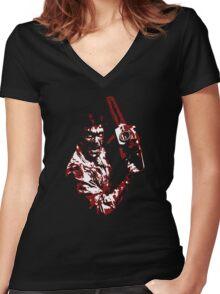 1981´s EVIL DEAD Women's Fitted V-Neck T-Shirt