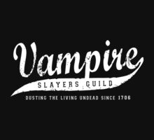 Vampire Slayers Guild - White by terry springett