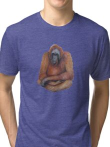 Wild Orangutan Drawing Tri-blend T-Shirt