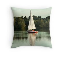 A beautiful evening on the lake Throw Pillow