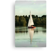 A beautiful evening on the lake Canvas Print