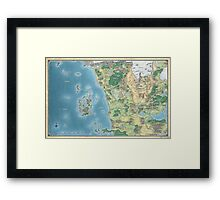 Map of the sword coast Framed Print