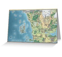 Map of the sword coast Greeting Card