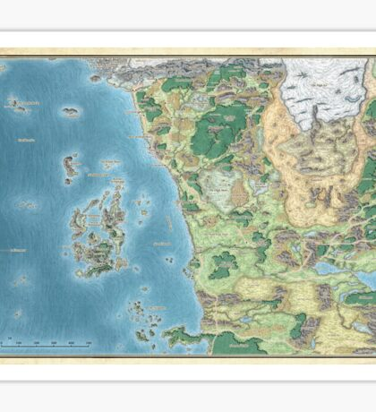 Map of the sword coast Sticker