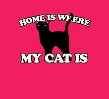 Home is where my cat is Womens Fitted T-Shirt