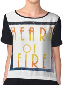 Heart of Fire Chiffon Top