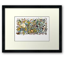 The Buddhist's Reply Framed Print