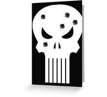 COMIC BOOK PUNISHER STYLE SKULL MILITARY Greeting Card