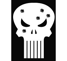 COMIC BOOK PUNISHER STYLE SKULL MILITARY Photographic Print