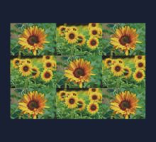 Sunflowers on a Field Kids Tee