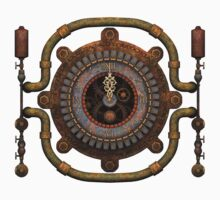 Steampunk Clock T-shirts and Stickers Kids Clothes
