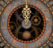 Steampunk Clock T-shirts and Stickers Sticker