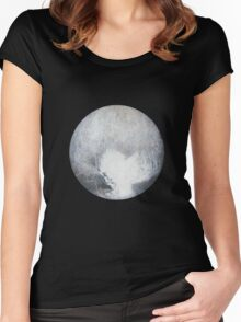 Pluto Drawing Women's Fitted Scoop T-Shirt
