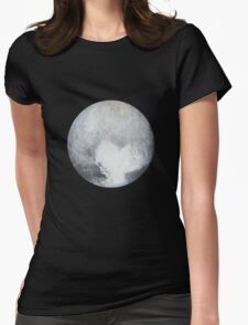 Pluto Drawing Womens Fitted T-Shirt