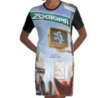 Movie Poster (Zootopia) Graphic T-Shirt Dress