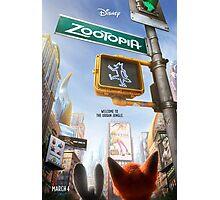 Movie Poster (Zootopia) Photographic Print