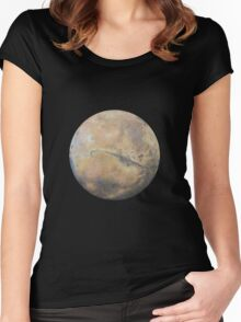 Mars Drawing Women's Fitted Scoop T-Shirt